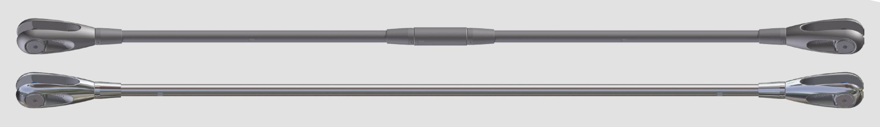 Tie bars in carbon steel en in stainless steel