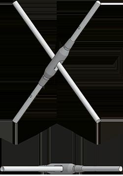 Bracing with cross turnbuckle